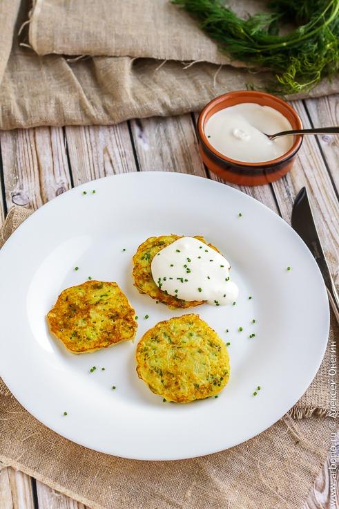 Оладьи из кабачков с картошкой классический рецепт с фото