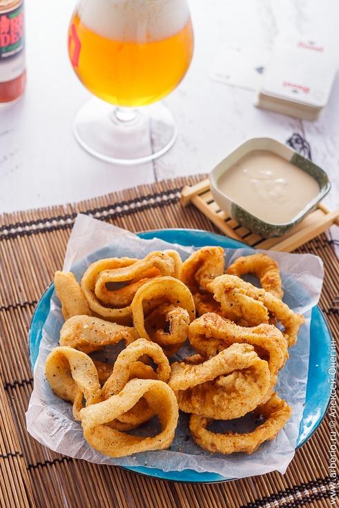 Кольца кальмара классический рецепт с фото