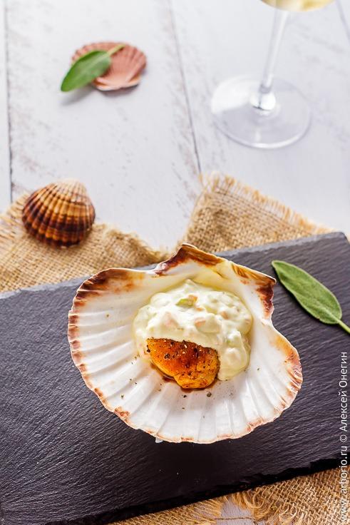 Морские гребешки в сливочном соусе рецепт с фото