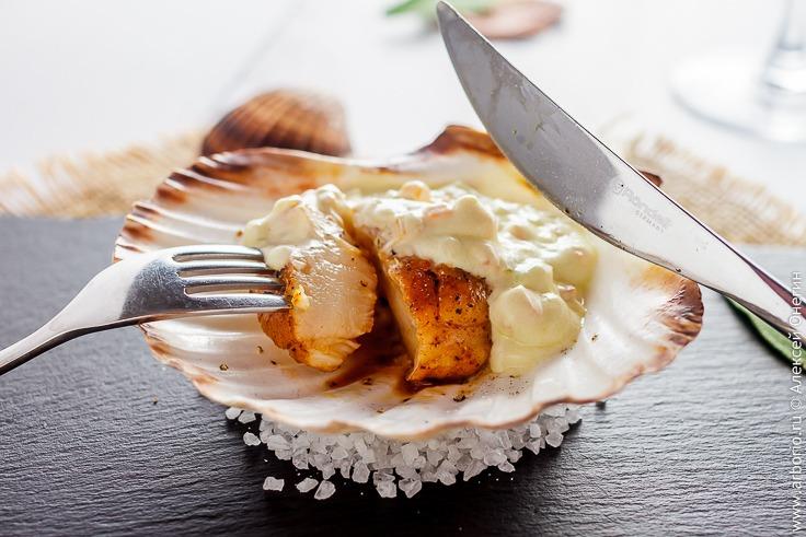 Пошаговый рецепт гребешков в сливочном соусе