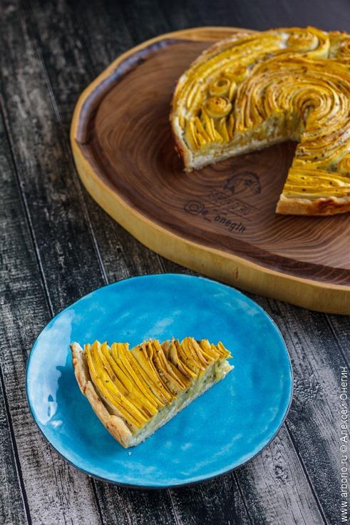 Спиральный тарт с кабачками - фото