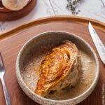 Запечённая капуста со сливочным соусом