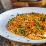 Армянская яичница с помидорами