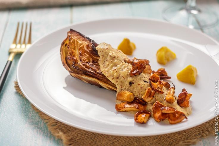 Капуста шпиц с горчичным соусом - фото