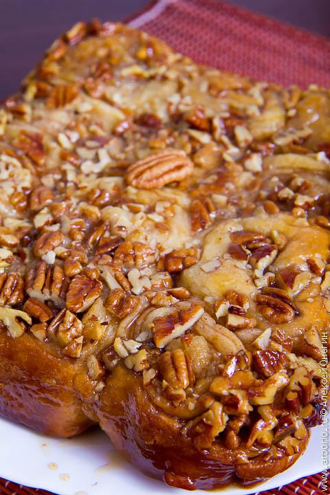 pecan buns 2 Медовые булочки с корицей и пеканом