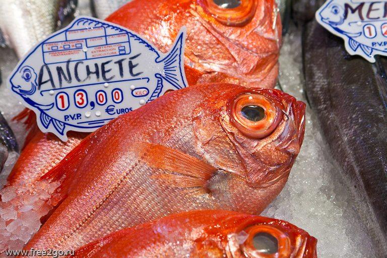 Рынок Санта-Круз - рыба