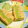 Террин из лосося с зеленым горошком