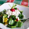 Весенний салат из черемши